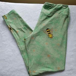 Bee and Flower LulaRoe TC Leggings